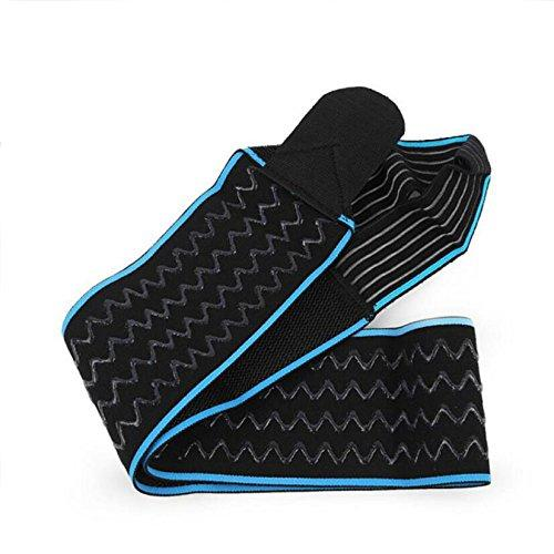 PFSYR 2 Sports Squatting Wrap Strap Silicone Non-slip Breathable Ankle Boots Basketball Football Ride,Blue-OneSize