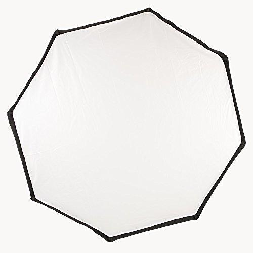 "Phot-R Professional 95cm/37.4"" Octagon Folding Umbrella Softbox Reflector with Bowens S-Type Mount Speedring Photo Studio Strobe Flash for Flashguns and Speedlite - Black/Silver + 'L' Shaped Bowens Flash Bracket for Canon & Nikon Flashguns"