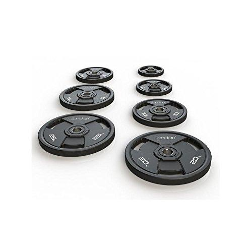 PhysioRoom Jordan Classic Urethane Olympic Disc - Weight Training, Free Weight Discs, Weight Plates
