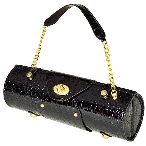 Picnic at Ascot 622BLK Wine Carrier & Purse-Black