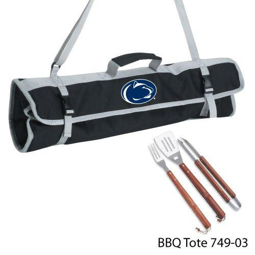 Picnic Time NCAA Penn State Nittany Lions 3-Piece BBQ Tool Set With Tote