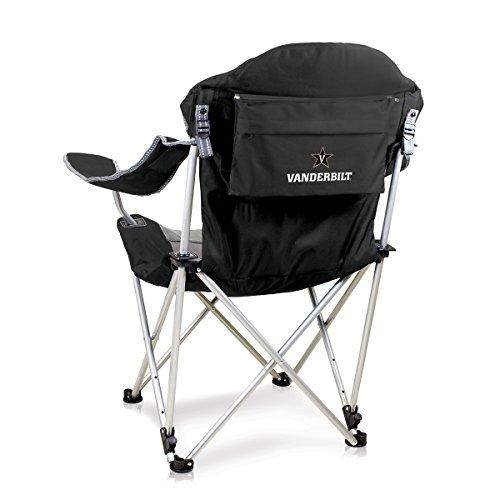 Picnic Time NCAA Vanderbilt Commodores Reclining Camp Chair, Black