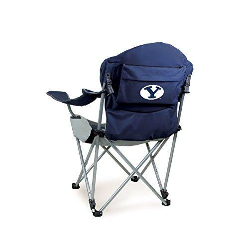 Picnic Time Reclining Camp Chair (Brigham Young University) Digital Print, Navy, One Size