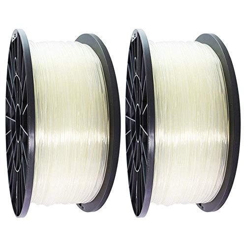Pictech 2x Natural 3D Filament for 3D Printers Such as RepRap, MakerBot, Ultimaker, Up!, Makergear, and Pen [Filament Type: ABS, Diameter: 1.75mm, Weight: 1Kg Each Spool, Tolerance: 0.05mm]