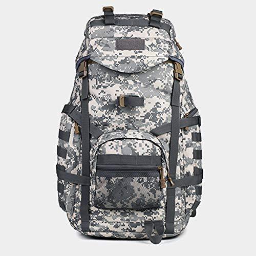 PIN XIU Army Fan Outdoor Shoulder Hiking Backpack Army Fan 3p Tactical Backpack Attack Mountaineering Bag Waterproof Sports Outdoor Camping Hiking ACU Digital 32X22X61[CM]