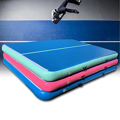 Plat Firm 118x78x7.8inch Inflatable GYM Air Track Mat Airtrack Gymnastics Mat Tumbling Practice Training Pad With Repair Kit