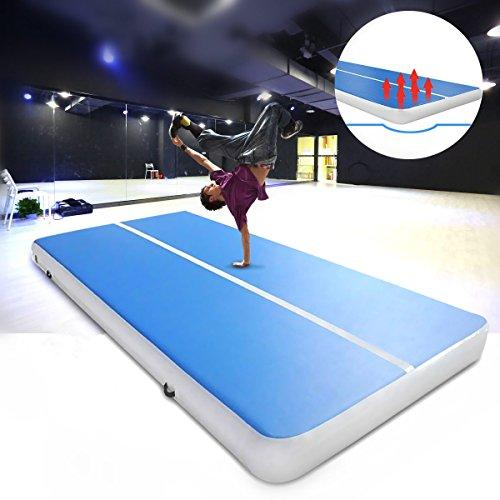 Plat Firm 236.2x39.4x3.94 inch PVC Inflatable Gym Air Track Mat Airtrack Gymnastics Mat Cheerleading Training Equipment