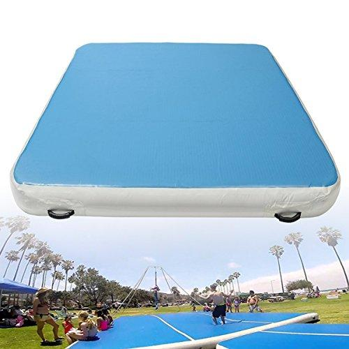 Plat Firm 78x118x7.8inch Inflatable Gymnastics Air Track Tumbling Mat Yoga Fitness Training Pad