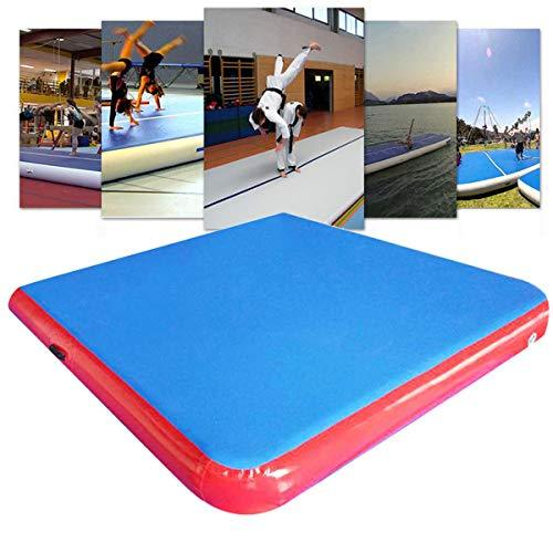 Plat Firm 79Ã-79Ã-4inch Inflatable GYM Air Track Mat Airtrack Gymnastics Mat Tumbling Climbing Pilates Pad