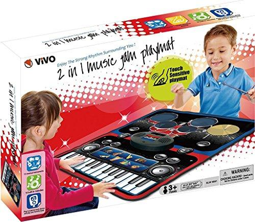 Playmat Children 2 in 1 Piano and Drums Music Learn Keyboard Drum Kit Electronic