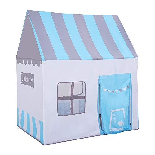 PlayMaty Portable Foldable Kids Play Tent Toys Playhouse Children Outdoor Indoor Games Present Baby Beach Sun Pop Up Role Play Tent For Boys Girls Gifts (Blue)