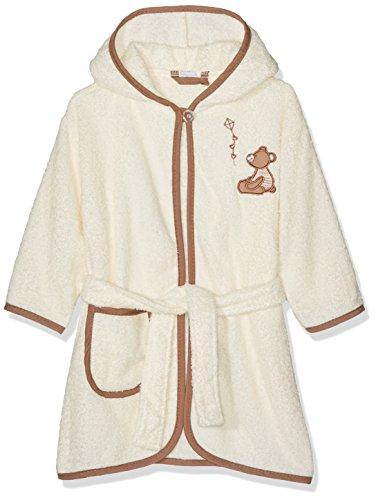 Playshoes Kids Terry Bathrobe Bear Hooded, Beige (Beige 6), 110 (Manufacturer size: 110/116)