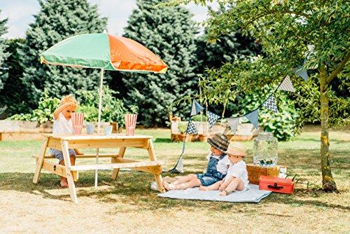 Plum Childrens Garden Picnic Table With Parasol High Quality Store - Picnic table parasol