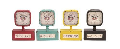 Plutus Brands The Lovely Metal Desk Clock 4 Assorted