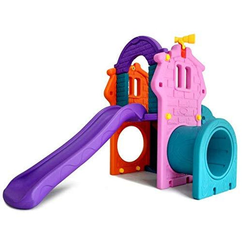PNYGJQ Indoor Outdoor Crawl Climb Drive Slide Playset for Children gazebo slide home toy kindergarten children slide combination (Size : 238 * 90 * 160CM)