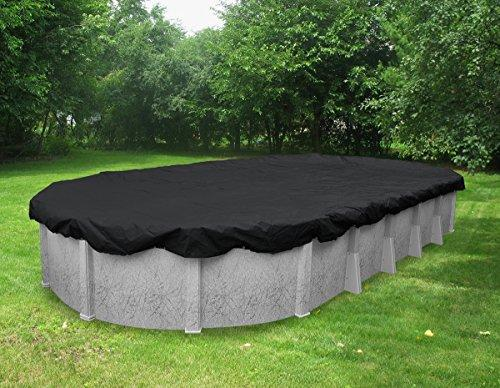 Pool Mate 381840-PM Black Mesh Winter Cover for Oval Above Ground Swimming Pool, 18 x 40'