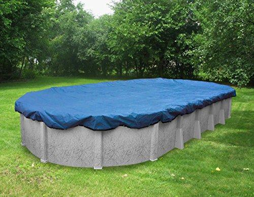 Pool Mate 541840 Econo-Mesh Winter Cover for Oval Above Ground Swimming Pool, 18 x 40'