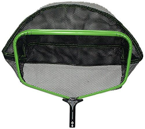 Pooline Products 11524GXL X-Large Heavy Duty Deep Rake with Wide Mouth and Durable Soft and Big Mesh Net, Includes Green Frame, Black Handle and Black Netting