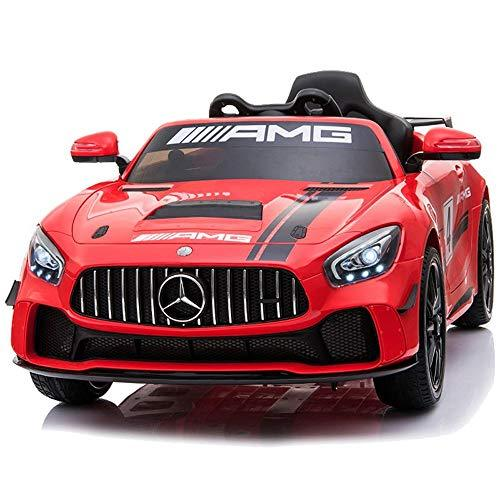 Poooc Children's Wireless Remote Control Racing Kids Coupe Ride on Car Electric Toys vehicle Children Pearl White + early Music Education Independent swing double Battery explosion-proof Wheel dazzlin