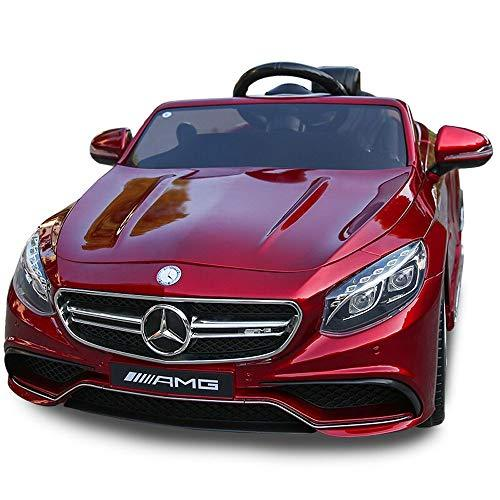 Poooc Genuine Official Licensed Boys Girls Light Up Hobby Toys Vehicles Swaying Drive Doors Toy RC Children Ride-on Twin Motors With LED Lights Music Parental Remfote Control White MP3 & Horn Remote