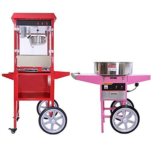 Popcorn Machine / Maker and Cotton Candy / Candy Floss Machine with Carts