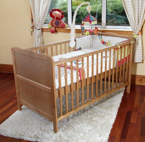 Poppy's Playground New Baby Country Pine COT Bed Nursery Furniture – Isabella COTBED/Junior Bed - Pine