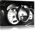Porsche speedometer Format: 120x80 on canvas, huge XXL Pictures completely framed with stretcher, art print on mural with frame, cheaper than painting or oil painting, no poster or poster