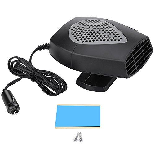 Portable 12V Car Heating Cooling Fan with Handle, Car Auto Vehicle Heater Fan Defroster Winter 150W with 360 Degree Rotary Base