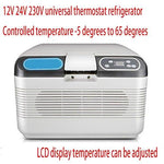 Portable cool box Dual-Core 12v24v Car Refrigerator Refrigeration Temperate Box Mini Car Cold And Warm Box Insulin Freezer Home Size 42 * 28 * 30cm Power 72W, 19l five keys (car home) thermostat box