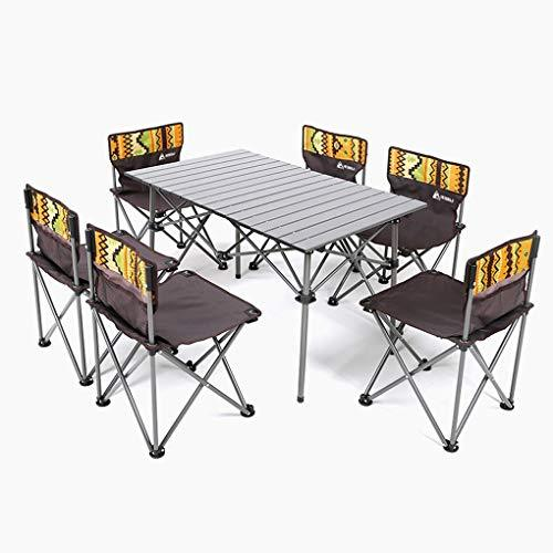 Portable Outdoor Folding Table And Chair Set Leisure Barbecue Camping Picnic Beach