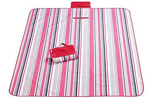 Portable Outdoor Picnic Blankets Beach Picking Rug Waterproof Oxford Cloth Camping Tote Mat 145*180/145*200/195*200 CM , B , 195*200cm