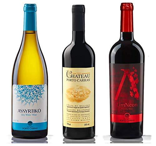 Porto Carras of Greece- Mixed Case of Greek Wines (Red and White, 6 Bottles)