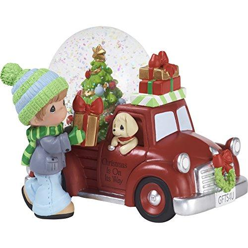 Precious Moments Red Truck Snow Globe, RESIN Multicolor, 4.75 inches height