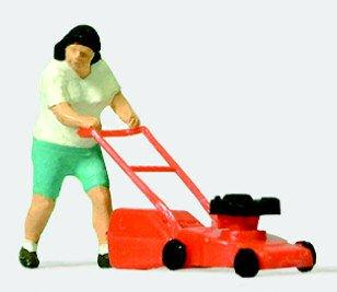 Preiser HO Scale Woman Lawn Mower