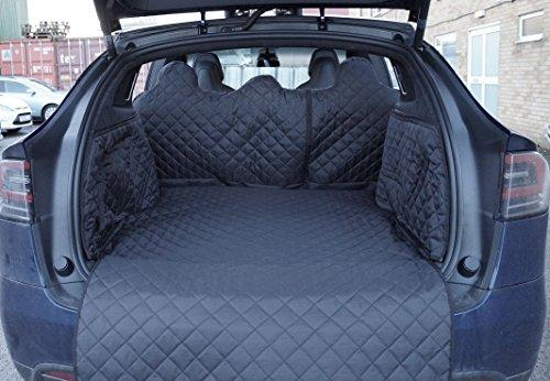 Premier Products Fully Tailored Quilted Boot Liner To Fit Model X 5 Seat Mode (2016-Present) Black