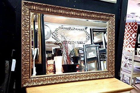 Premierinteriors Antique Ornate Bevelled Wall Mirror Gilt Finish French Frame Gold 90x65cm