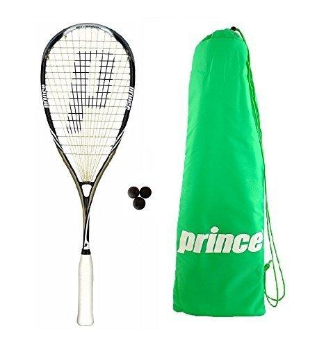 Prince Pro Sovereign 650 Squash Racket + 3 Squash Balls + Bag