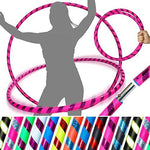 PRO Hula Hoops (Ultra-Grip/Glitter Deco) Weighted TRAVEL Hula Hoop (100cm/39') Hula Hoops For Exercise, Dance & Fitness! (640g) NO Instructions Needed - Same Day Dispatch.! (Pink / Purple Glitter)