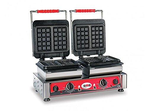 Professional Catering Double Waffle Maker GMG Bruxelles 2 Teflon rechteckig we 22