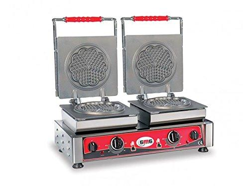 Professional Catering Double Waffle Maker GMG We Heart Amore S 2 Teflon 21S