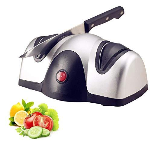 Professional Electric Knife Sharpener, Kitchen Knives Best 2-Stage Sharpening System for Grind and Fine Hone Knives