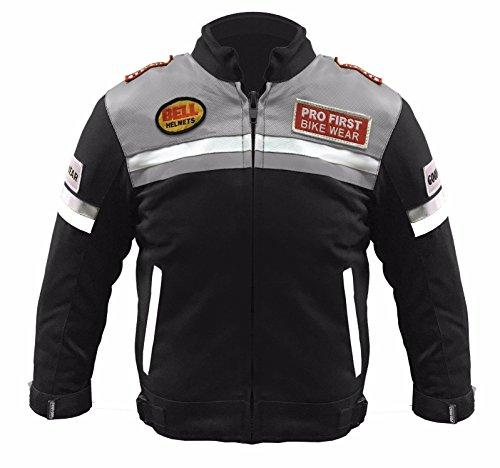 PROFIRST Kids Children Motorbike Jacket Motocross Clothing Gear CE Armoured Genuine 414 (Grey, Upto 12 Years)