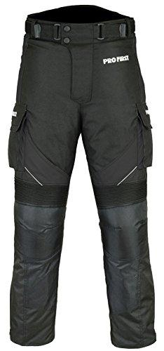 PROFIRST TR-001 | CE Approved Armoured Motorbike Motorcycle Trouser Pant Waterproof - Removable Lining - Big Pocket Design - Short Length Inside Leg 29 inch (Black & Full Black, X-Large 36 Waist)