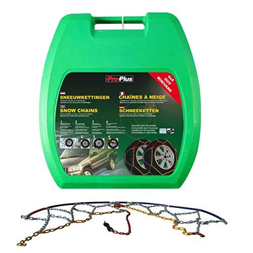 ProPlus 2x Car Tyre Snow Chains 16mm KB39 Vehicle Tire Antiskid Grip Emergency