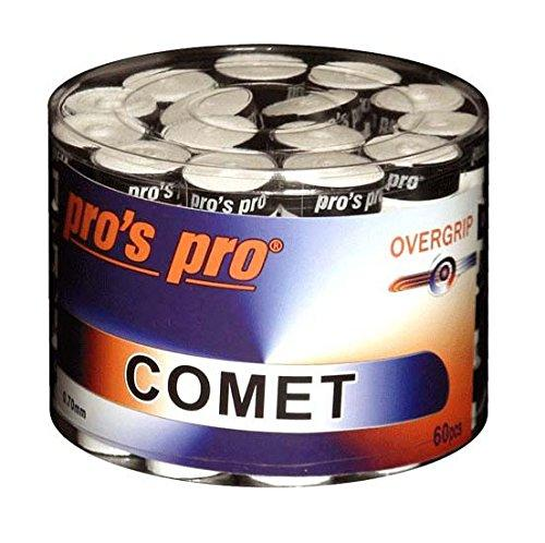 Pro's Pro Comet Overgrip Tennis Badminton Squash Racket Grip - Box of 60 (White)