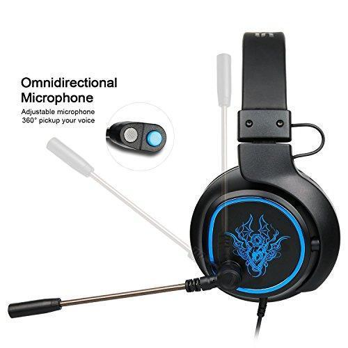 PS4 Headset,SADES R5 Xbox One Mic Gaming Headset Gaming Headphones with  Microphone for For New Xbox one PS4 Laptop Mac Tablet iPhone iPad  iPod(Black)