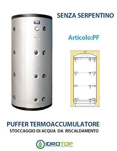 Puffer Water Storage Heater, 1000 Litres, Without Serpentine, Soft Insulation