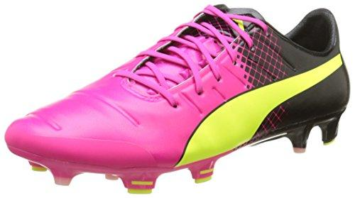 Puma Evopower 1.3 Tricks Firm Ground, Men's Football Boots, Pink (Pink Glo/Safety Yellow/Black), 6 UK (39 EU)