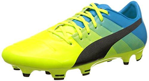 Puma evoPOWER 2.3 Firm Ground, Men's Football Training Shoes, Yellow (Safety Yellow/Black/Atomic Blue 01), 6 UK (39 EU)