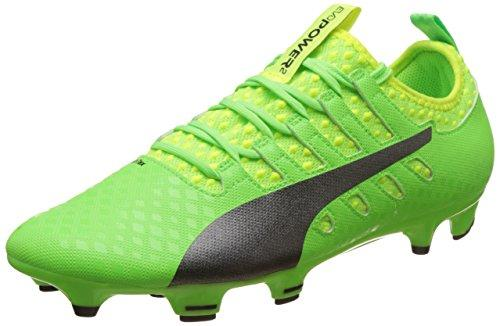 Puma Men's Evopower Vigor 2 FG Football Boots, (Green Gecko Black-Safety Yellow 01), 13 UK